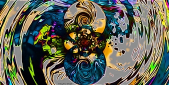 Vaydra Wright - 5th Suites Digital Artwork on Canvas, Digital Art