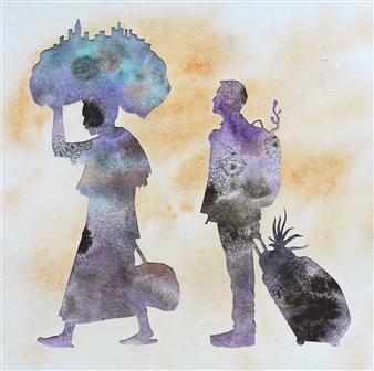 vgvenu - Transit - 48 Watercolor & Ink on Paper, Paintings