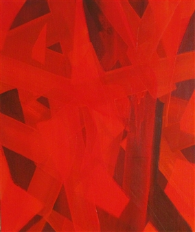 Akihito Izumi - Composition-8 Oil on Canvas, Paintings