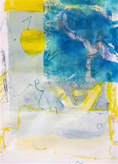 Claudia Mini - Walking to the Sun Monotype, Paintings