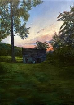 John Britton - Catskills Barn Oil on Canvas, Paintings