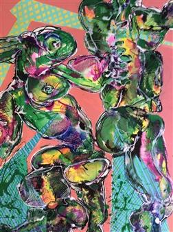 Michael Dolen - Matrix 505 F Mixed Media on Paper, Mixed Media