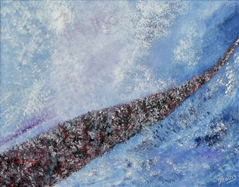 Joe Koury - Winter Arc Acrylic on Canvas, Paintings