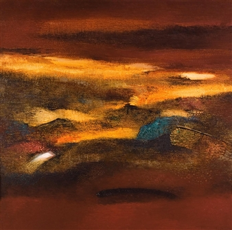 Madhuri Bhaduri - Horizons Oil on Canvas, Paintings