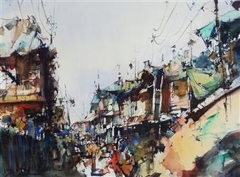 Alejandro Miras - Suburbio Watercolor, Paintings