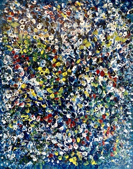 Mark Schiff - Provence Lilies Acrylic on Canvas, Paintings