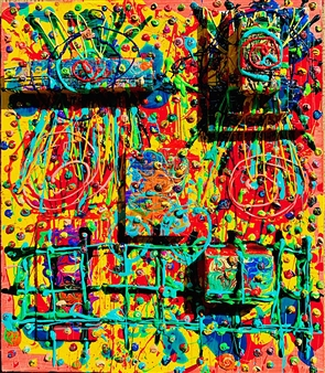 Miho Nishibe - Ihihi Acrylic & Oil on Canvas, Paintings
