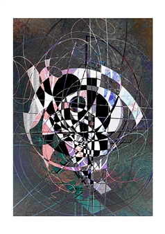 Dar Wolfe - Archetype Mixed Media & Ink on Paper, Mixed Media