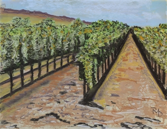 Raul Mariaca Dalence - Calistoga 2 Pastel on Canvas, Paintings