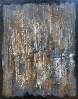 Alissa Van Atta - The Breathe of a Tipping Point Acrylic & Charcoal on Canvas, Paintings