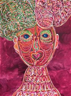 Anna K Art Katja van den Bogaert - Karuna Acrylic on Linen, Paintings