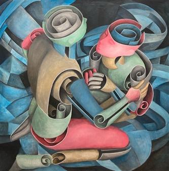 Don Kosta - Expectations Acrylic on Canvas, Paintings