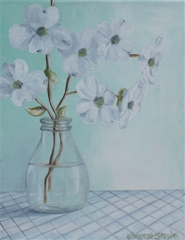 Elizabeth Sabine - Flowering Branches No. 2 Oil on Canvas, Paintings