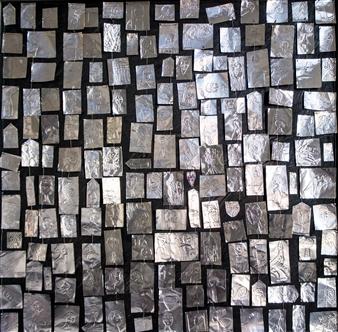 Sigrid Thaler - Faces Mixed Media on Canvas, Mixed Media