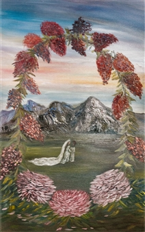 Dora Duran - Covenant of Love Oil on Canvas, Paintings