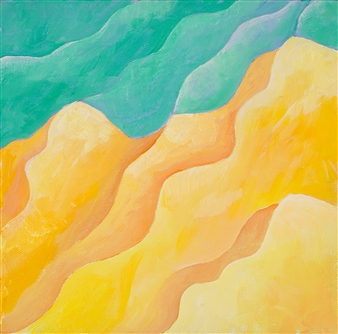 Jerry Anderson - Erosion Acrylic on Canvas, Paintings