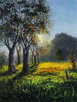 Deana Evstefeeva - Alba Vibrante Oil on Canvas, Paintings