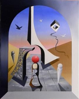 L. W. Shortridge - Paris Healing Oil on Canvas, Paintings