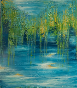 Zvia Merdinger - Tribute to Monet Mixed Media on Canvas, Mixed Media