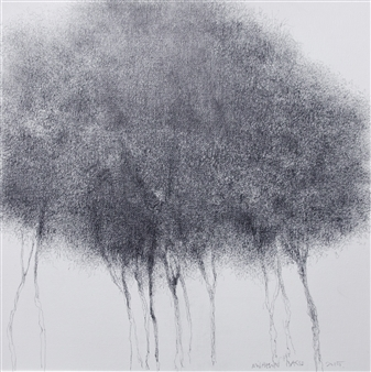 Michelin Basso - Untitled 5 Graphite on Canvas, Drawings