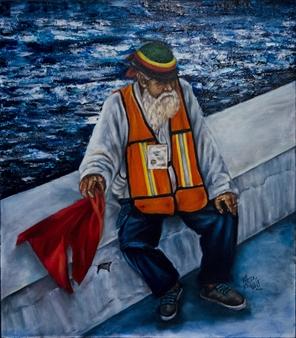 Vanessa Vilchis - Vecchiaia Infinita Come Il Mare Oil on Canvas, Paintings