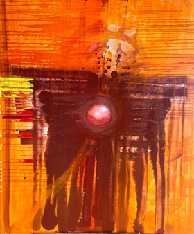 PJ Riley - CREATION THEORY: Afro Angel Acrylic on Canvas, Paintings