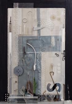 Ellen Burnett - Unquiet City Mixed Media & Found Objects, Sculpture