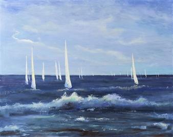 Arttiana - Morning Lightness Oil on Canvas, Paintings