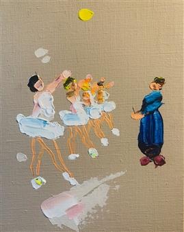 Kazusa Matsuyama - -Anonymous Portrait 06- Acrylic on Canvas, Paintings