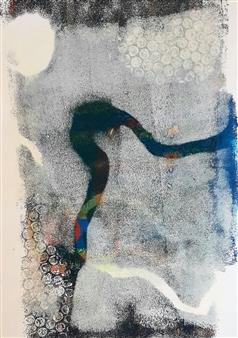 Claudia Mini - La Vie S'en Va Monotype, Paintings