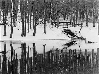 Antonio Biagiotti - Pond and Small Bridge Photographic Print on Board, Photography