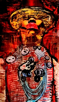 Franck Sastre - Iana Mixed Media on Canvas, Mixed Media