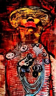 Franck Sastre - Iana Mixed Media on Canvas, Mixed Media