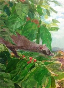Charmaine Nadine Osaerang - Chivet Acrylic on Panel, Paintings