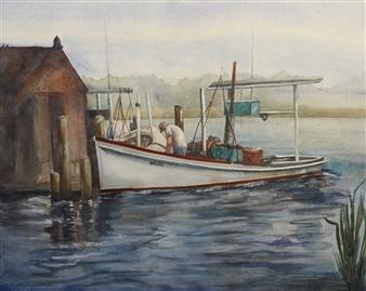 Pauli Zmolek - Miss Darlene Watercolor on Paper, Paintings