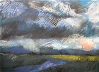 Rebecca Rath - The Promise of Rain Soft Pastel on Fabiano Paper, Paintings
