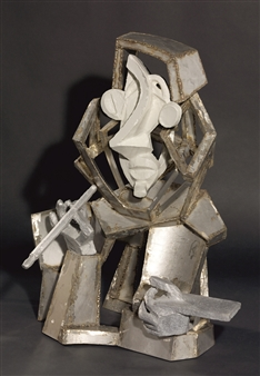 Attila Mata - Painter Aluminum, Stainless Steel, Sculpture