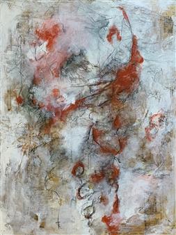 Alissa Van Atta - To the Moon Acrylic & Mixed Media on Canvas, Mixed Media