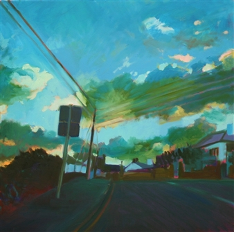Julia Rowlands - Road to Mousehole II Oil on Canvas, Paintings