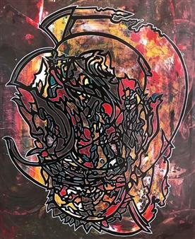 Henrik Sjöström - Veracious Scion Acrylic & Spraypaint on Canvas, Paintings