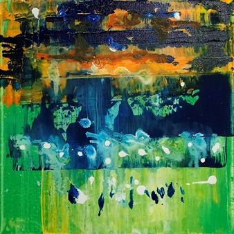 Marianne Durach - Sunset Acrylic on Canvas, Paintings