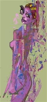 José Talamás Abularach - Nude 1 Mixed-Media Assemblage, Mixed Media
