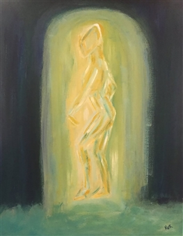 Karen Kanas - Abstract Figure Acrylic on Canvas, Paintings