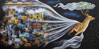 Venugopal V.G. - Utopia Acrylic on Canvas, Paintings