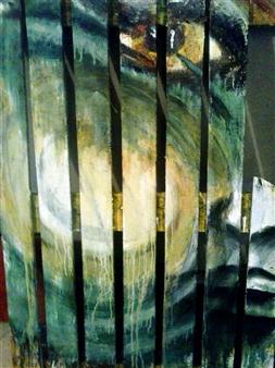 Luisa Vicente Isola - Mirada Acrylic on Wood, Paintings