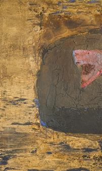 Israel Feldmann - Nation's Embryo Pigment on Plywood, Paintings