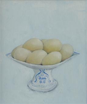 Jorge Garcia-Sainz - Eggs From My Farm Oil on Canvas, Paintings