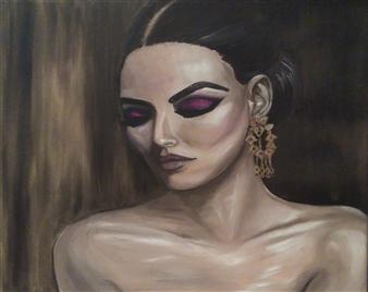 Katha B - Ivy Oil on Canvas, Paintings