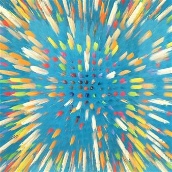 Alex Osborne - Dippin Dots 3D Archival Digital Print on Panel, Digital Art