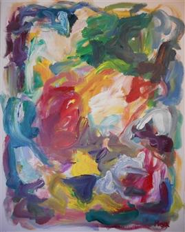 Susan Marx - Firebird Acrylic on Canvas, Paintings